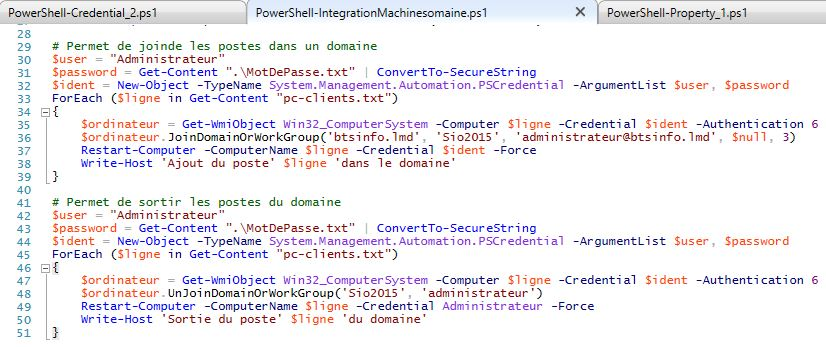 PowerShell-AD_InegrationsSuppressionPostesDomaine